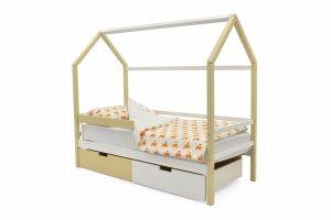 Детская кровать-домик Svogen бежево-белый - Мебельная фабрика «Бельмарко»