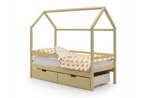 Детская кровать-домик Svogen бежевый - Мебельная фабрика «Бельмарко»