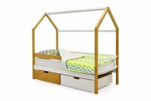Детская кровать-домик Svogen дерево-белый - Мебельная фабрика «Бельмарко»