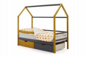 Детская кровать-домик Svogen дерево-графит - Мебельная фабрика «Бельмарко»