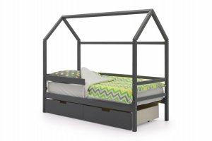 Детская кровать-домик Svogen графит - Мебельная фабрика «Бельмарко»