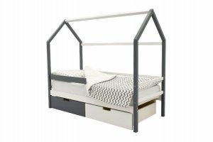 Детская кровать-домик Svogen графит-белый - Мебельная фабрика «Бельмарко»