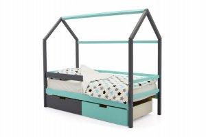 Детская кровать-домик Svogen графит-мятный - Мебельная фабрика «Бельмарко»