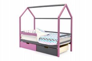 Детская кровать-домик Svogen лаванда-графит - Мебельная фабрика «Бельмарко»