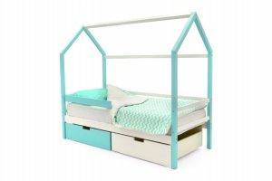 Детская кровать-домик Svogen мятно-белый - Мебельная фабрика «Бельмарко»