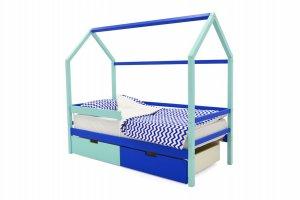 Детская кровать-домик Svogen мятно-синий - Мебельная фабрика «Бельмарко»