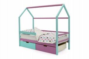 Детская кровать-домик Svogen мятный-лаванда - Мебельная фабрика «Бельмарко»