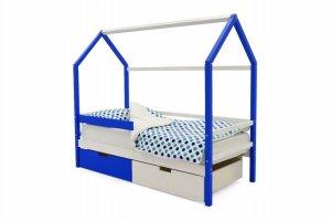 Детская кровать-домик Svogen сине-белый - Мебельная фабрика «Бельмарко»