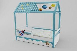 Детская кровать-домик Космос - Мебельная фабрика «Папа Карло»