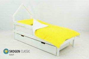 Детская кровать-домик мини Skogen белый - Мебельная фабрика «Бельмарко»