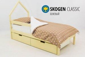Детская кровать-домик мини Skogen бежевый - Мебельная фабрика «Бельмарко»