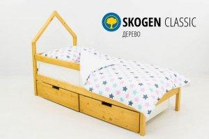 Детская кровать-домик мини Skogen дерево - Мебельная фабрика «Бельмарко»