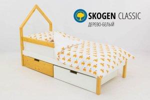 Детская кровать-домик мини Skogen дерево-белый - Мебельная фабрика «Бельмарко»