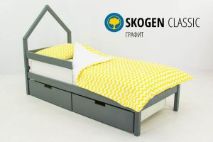 Детская кровать-домик мини Skogen графит - Мебельная фабрика «Бельмарко»