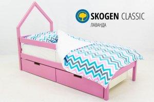 Детская кровать-домик мини Skogen лаванда - Мебельная фабрика «Бельмарко»