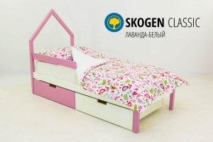 Детская кровать-домик мини Skogen лаванда-белый - Мебельная фабрика «Бельмарко»