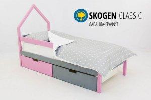 Детская кровать-домик мини Skogen лаванда-графит - Мебельная фабрика «Бельмарко»
