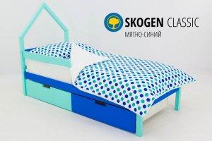Детская кровать-домик мини Skogen мятно-синий - Мебельная фабрика «Бельмарко»