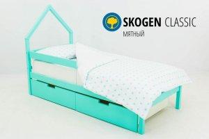 Детская кровать-домик мини Skogen мятный - Мебельная фабрика «Бельмарко»