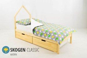 Детская кровать-домик мини Skogen натура - Мебельная фабрика «Бельмарко»