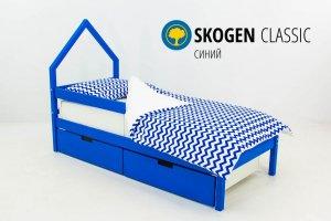 Детская кровать-домик мини Skogen синий - Мебельная фабрика «Бельмарко»