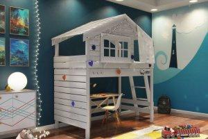 Детская кровать-домик с рабочим местом - Мебельная фабрика «PandaDream»