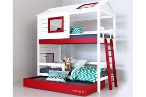 Детская кровать-домик Твин для 2х детей - Мебельная фабрика «Mamka»