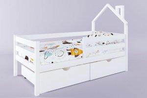 Детская кровать Герда с мини крышей и ящиками - Мебельная фабрика «RuLes»
