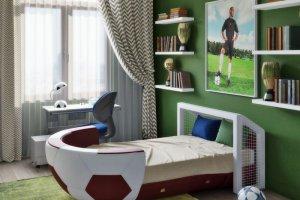 Детская кровать I like Football - Мебельная фабрика «ESTET INTERIORS» г. Москва