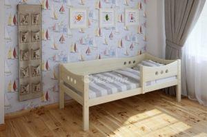 Детская кровать из массива Легенда 15 с бортиком - Мебельная фабрика «Легенда»