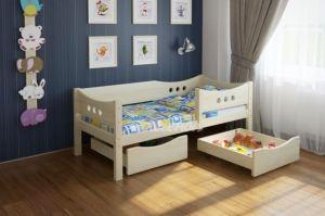 Детская кровать из массива сосны Легенда 15.1 - Мебельная фабрика «Легенда»