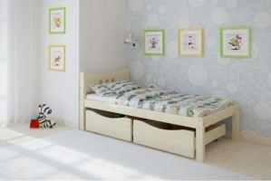 Детская кровать из массива сосны Легенда 21.1 - Мебельная фабрика «Легенда»