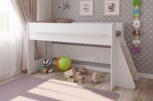 Детская кровать Легенда 23.1 белая - Мебельная фабрика «Легенда»