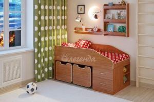 Детская кровать Легенда 8 с полками - Мебельная фабрика «Легенда»