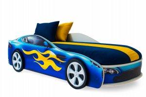 Детская кровать-машина Бондмобиль синий - Мебельная фабрика «Бельмарко»