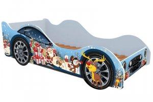 Детская Кровать-машина Новый год  - Мебельная фабрика «Рим Декор»