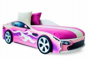 Детская кровать-машинка Бондмобиль розовый - Мебельная фабрика «Бельмарко»
