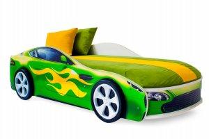 Детская кровать-машинка Бондмобиль зеленый - Мебельная фабрика «Бельмарко»