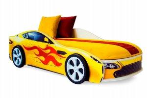 Детская кровать-машинка Бондмобиль желтый - Мебельная фабрика «Бельмарко»