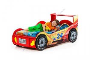 Детская кровать машинка Гонщик - Мебельная фабрика «Тридевятое царство»