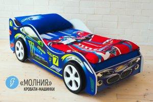 Детская кровать-машинка Молния - Мебельная фабрика «Бельмарко»
