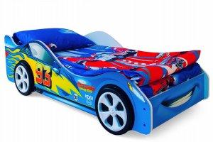 Детская кровать-машинка Тачка синяя - Мебельная фабрика «Бельмарко»