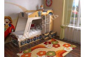 Детская кровать Паровозик - Мебельная фабрика «СлавМебель»