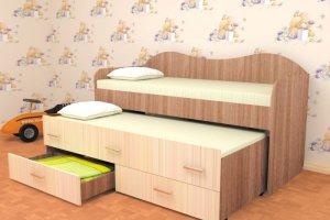 Детская кровать с дополнительным спальным местом - Мебельная фабрика «Интерьер»