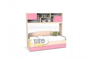 Детская кровать с полкой К023 - Мебельная фабрика «UFOkids», г. Санкт-Петербург