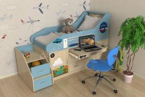 Детская кровать Самолет мини - Мебельная фабрика «СлавМебель»