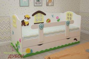 Детская кровать Щенки  - Мебельная фабрика «Дубок»