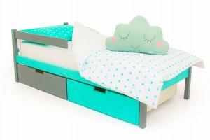 Детская кровать SKOGEN графит-мятный - Мебельная фабрика «Бельмарко»