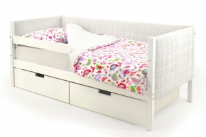 Детская кровать-тахта мягкая Svogen белый - Мебельная фабрика «Бельмарко»
