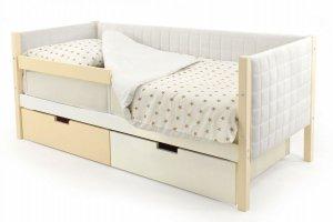 Детская кровать-тахта мягкая Svogen бежево-белый - Мебельная фабрика «Бельмарко»